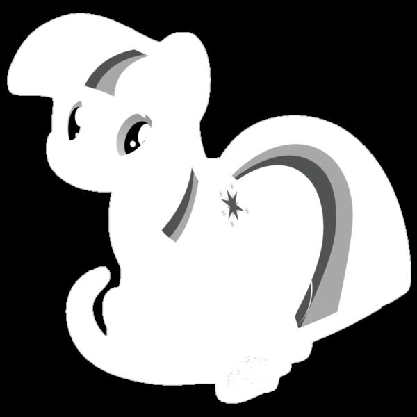 Bring that pony down! - white outline by Stinkehund