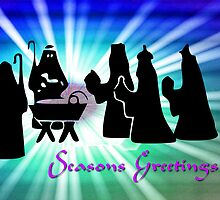 The Arrival of the Three Wise Men - Seasons Greetings by Dennis Melling