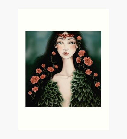 Nymphs: Swanmaiden Art Print