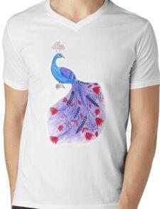 Magical Peacock Mens V-Neck T-Shirt