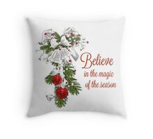 Believe in the Magic of the Season Throw Pillow