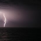 Lightning storm at Sellicks Beach , South Australia  by corrinalisa
