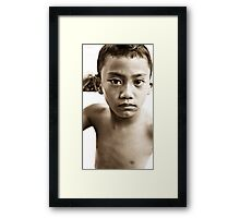 Balinese Kid Framed Print