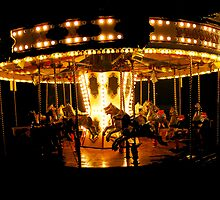 Faiground Carousel at Whitley Bay by coastimages