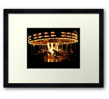 Faiground Carousel at Whitley Bay Framed Print