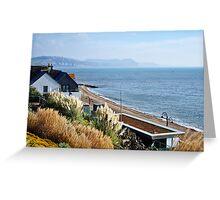 November Morning ~ Lyme Regis Greeting Card