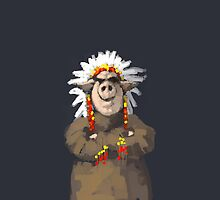 Painting of a Pig chief in a headdress by astralsid