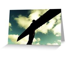 Angel of the North Clouds Greeting Card