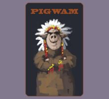 PIGWAM painting of a Pig Chief Kids Tee