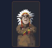 Painting of a Pig chief in a headdress Kids Tee