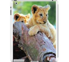 Lion Cubs at Play iPad Case/Skin
