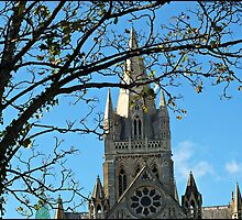 """ A winter sun shines on Truro Cathedral"" by Malcolm Chant"