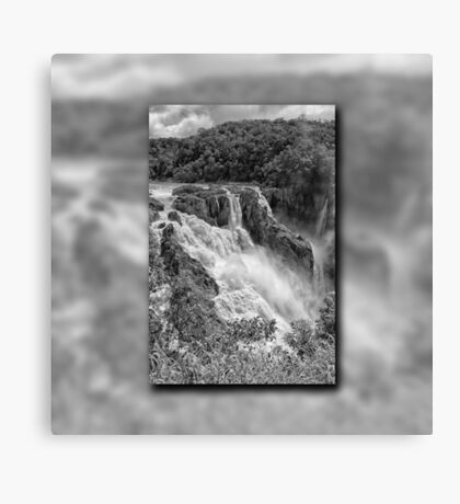 Barron Falls in Black and White Canvas Print