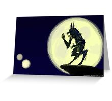 Ware the Wolf Greeting Card