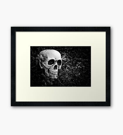 """and the skull was laughing"" Framed Print"