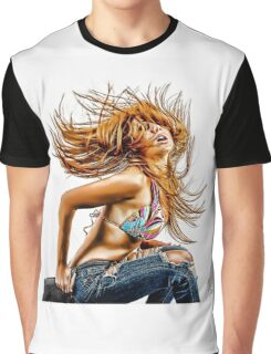 Hairflip - Modern Pinup Graphic T-Shirt