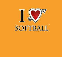 i love softball heart Womens Fitted T-Shirt