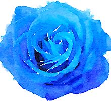 Blue Rose Girly Tumblr 90s Grunge Watercolor by Big Kidult