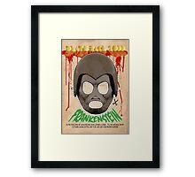 Death Race 2000 (mask) Framed Print