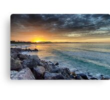 Sunset at The Wreck Canvas Print