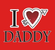 i love daddy heart  One Piece - Short Sleeve