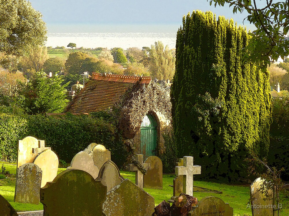 The Churchyard & The Green Door  by Antoinette B