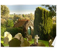 The Churchyard & The Green Door  Poster