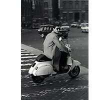Scooterman Rome Photographic Print