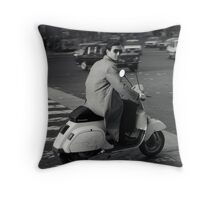 Scooterman Rome Throw Pillow