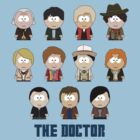 All Eleven The Doctors (South Park) - Doctor Who by robotplunger
