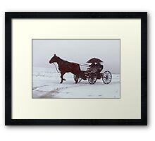 Amish Drive-By Framed Print