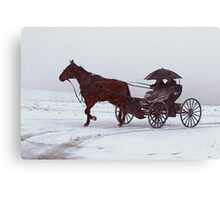 Amish Drive-By Canvas Print
