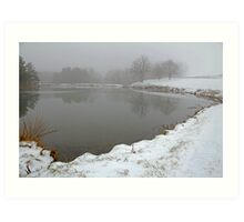 Pond In Snow Art Print