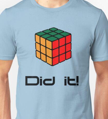 Rubix Cube - Did it! Unisex T-Shirt