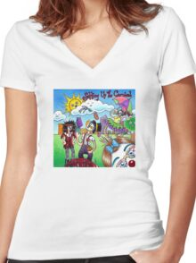 Setting up the Carnival Women's Fitted V-Neck T-Shirt