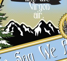 So Say We Ale Sticker