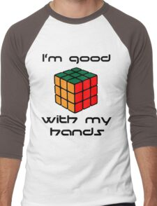 Rubix Cube - Good with my hands Men's Baseball ¾ T-Shirt
