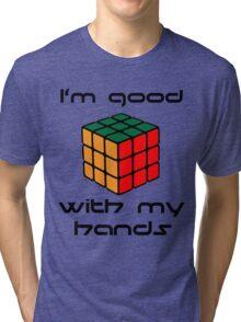 Rubix Cube - Good with my hands Tri-blend T-Shirt