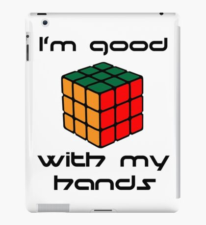 Rubix Cube - Good with my hands iPad Case/Skin