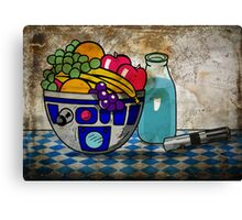 Still Life With The Blue Milk Canvas Print