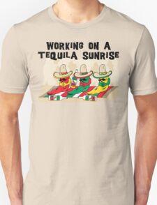 "Cinco de Mayo ""Working On A Tequila Sunrise"" T-Shirt"