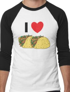 Cinco de Mayo I Love Tacos Men's Baseball ¾ T-Shirt