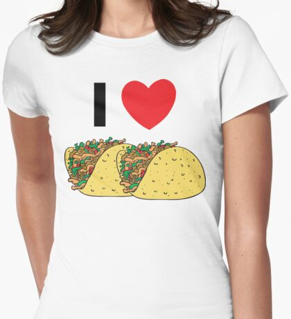 Cinco de Mayo I Love Tacos Womens Fitted T-Shirt