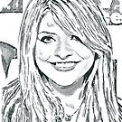 Holly Willoughby Pencil &amp; Ink Sketch by chrisjh2210