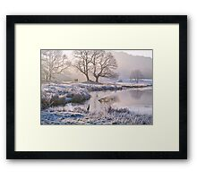 Frosty morning at the River Brathay - The Lake District Framed Print