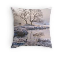 Frosty morning at the River Brathay - The Lake District Throw Pillow