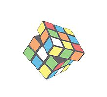 Rubix Cube - Plain Photographic Print