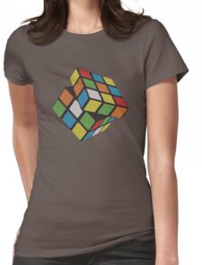 Rubix Cube - Plain Womens Fitted T-Shirt