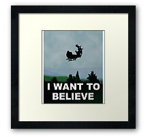 I Want To Believe (Santa) - X-FIles Framed Print