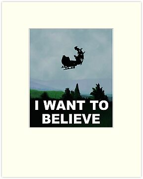 I Want To Believe (Santa) - X-FIles by robotplunger